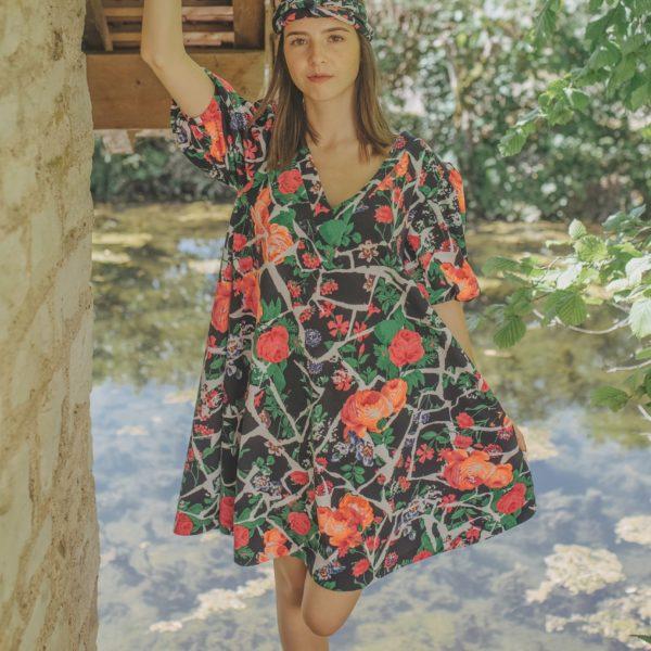 Robe fleurie été 2020 - By Sue-Sue - CréatriceDijon