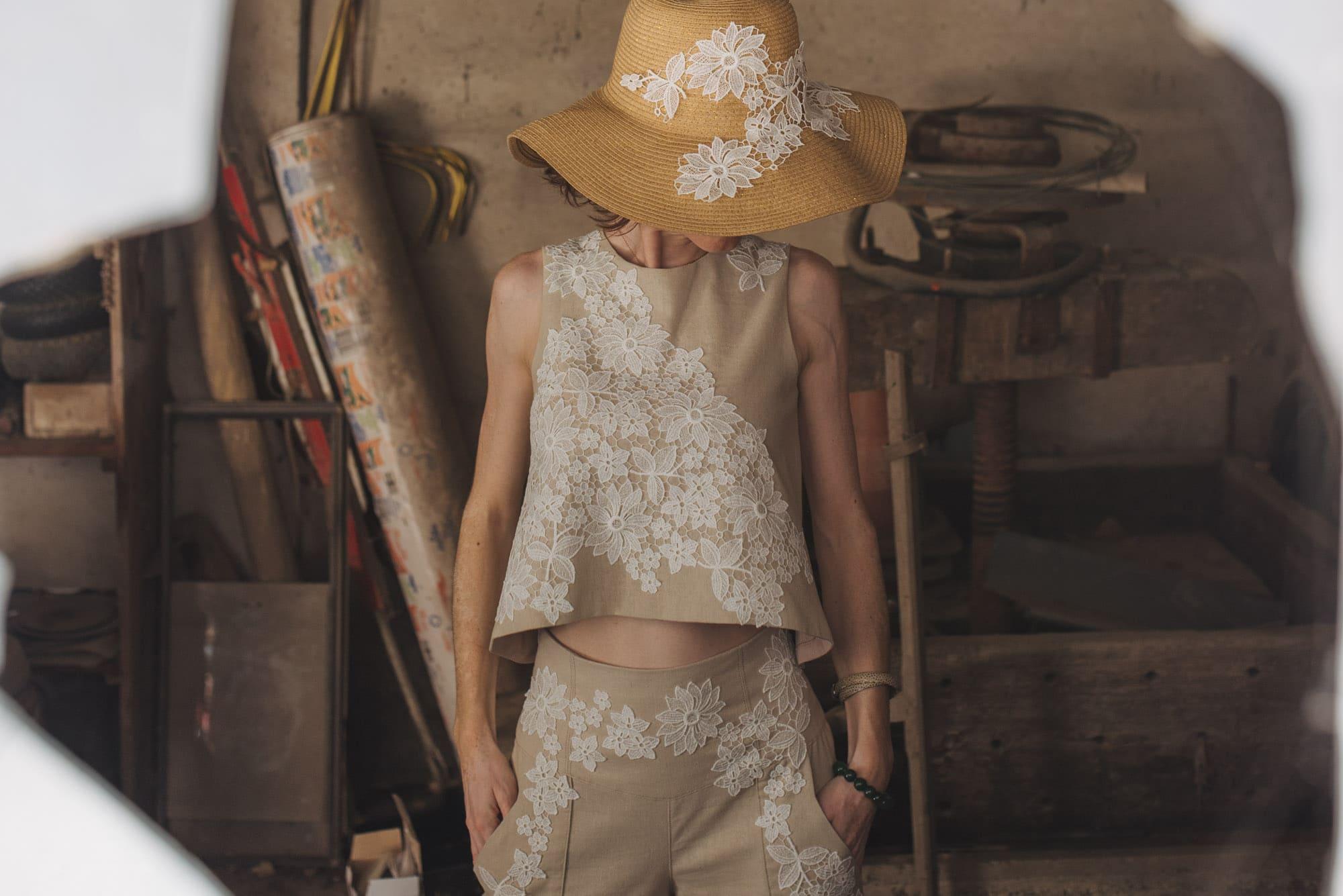 Ensemble tailleur femme, Séverine Maire, By Sue-Sue, Créatrice de mode éthique,Dijon