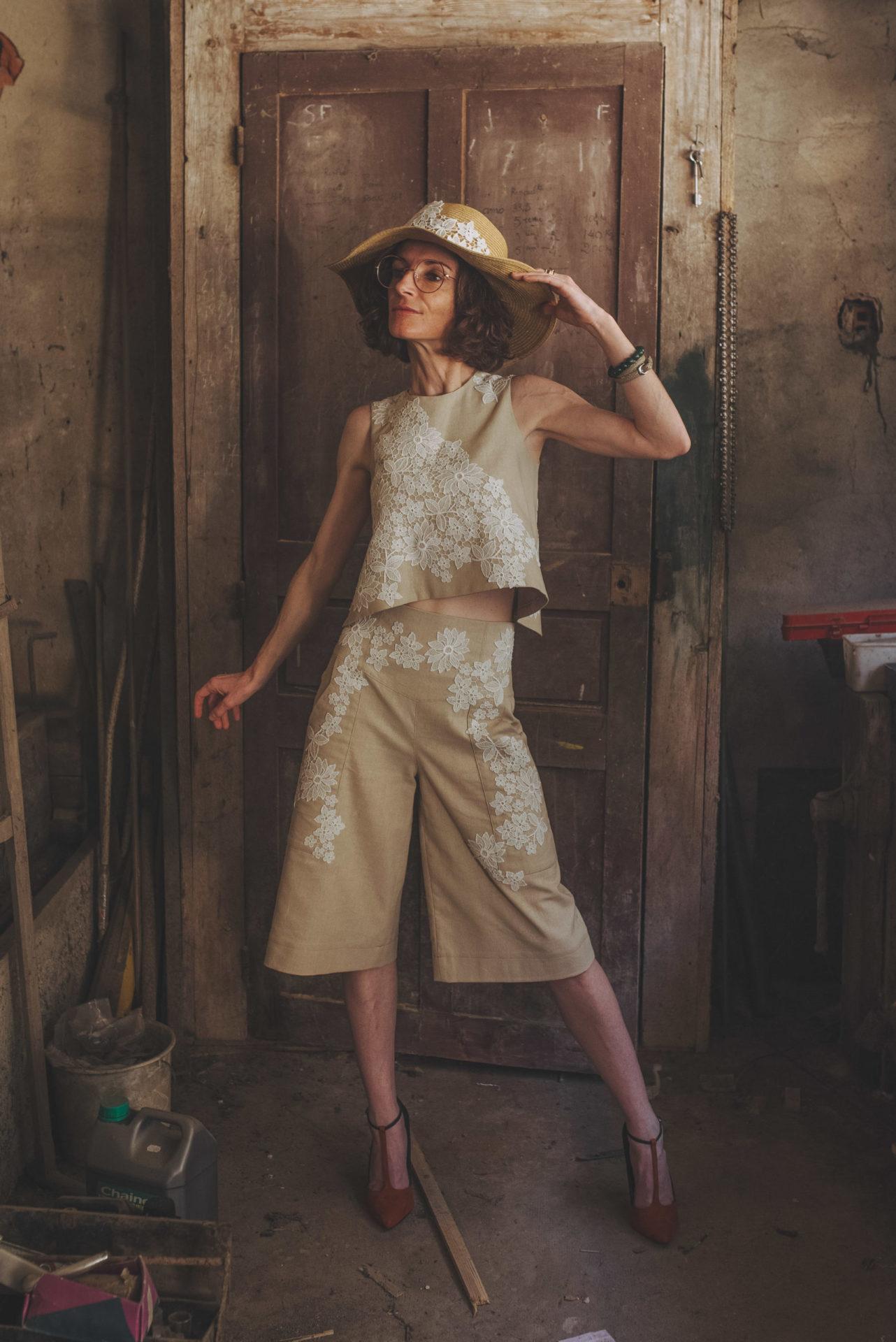 Tailleur femme bermuda, By Sue-Sue créatrice de mode Dijon