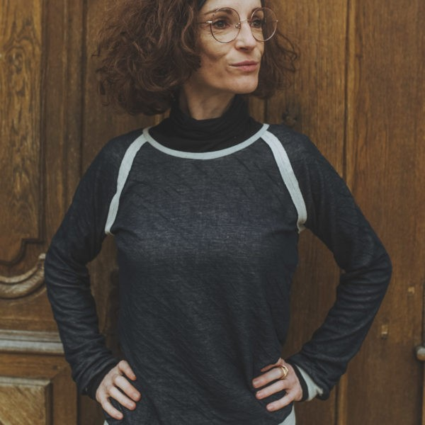 Pull manches raglan uni, By Sue-Sue, Créatrice Dijon, Artisanat