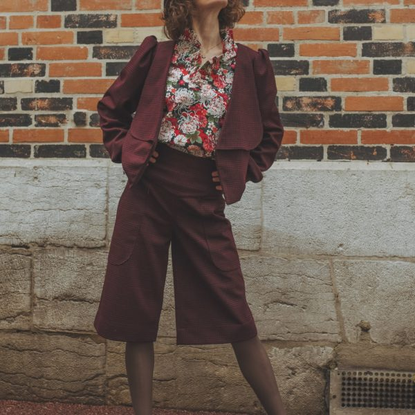 Tailleur Bermuda Femme, Collection Automne Hiver 2020, Styliste Dijon, Séverine Maire