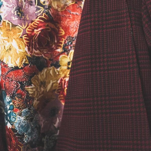 Veste esprit trench prince de Galles rouge, By Sue-Sue