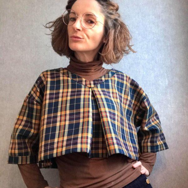 Pull encolure V, Pull à pli creux, Créatrice Dijon, By Sue-Sue, Styliste Dijon