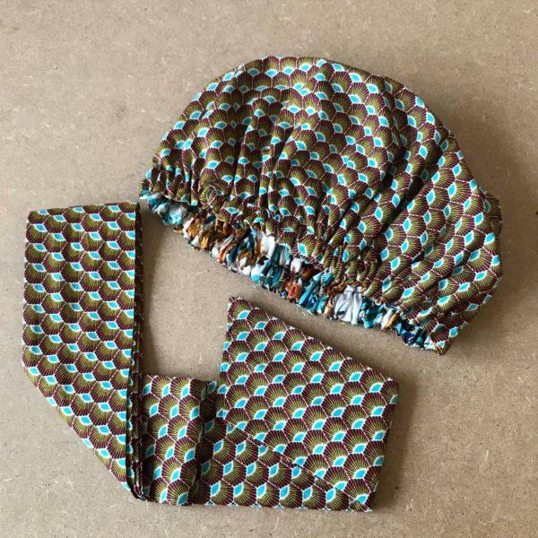 BONNET WRAP - HEADWRAP, By Sue-Sue, Logo, Mode éthique, Prêt à porter, Boutique en ligne, Dijonnaise