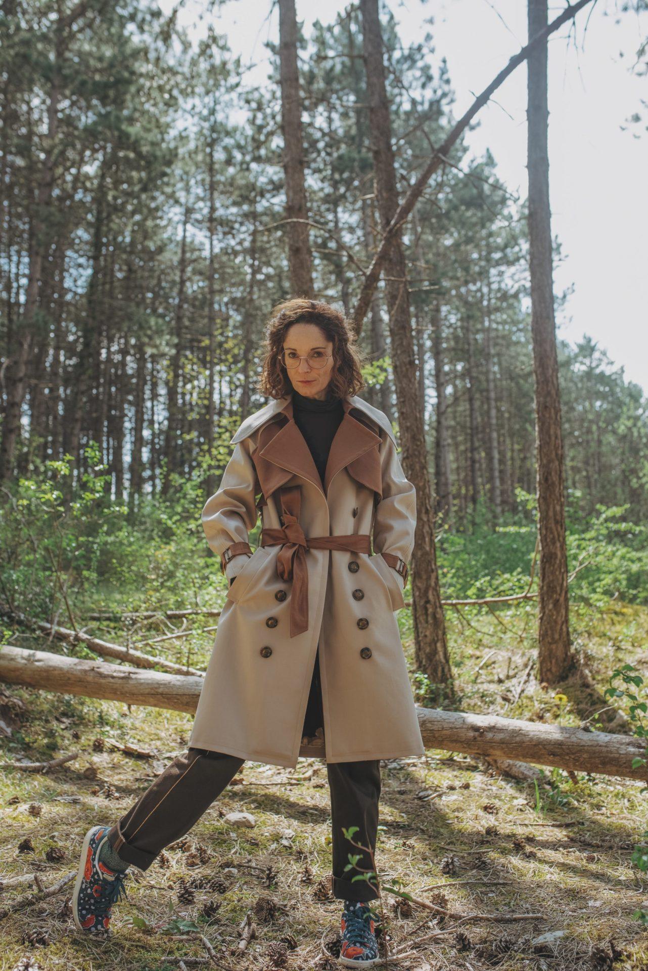 Trench-coat, By Sue-Sue, Créatrice mode éthique, Styliste modéliste, Mode responsable